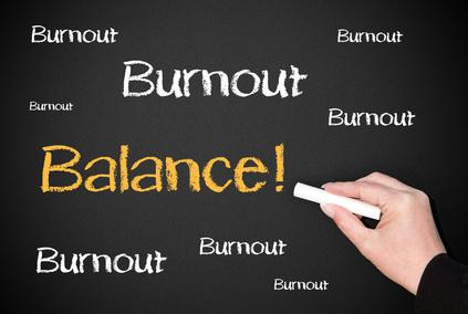 Burnout / Balance - Business Concept